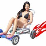 A nova cadeira de alumínio motorizada para passear na praia