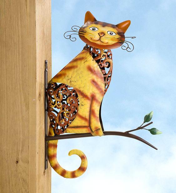 Gato para decorar varanda