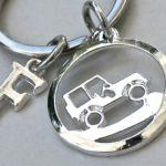 Medalha Jeep para usar como chaveiro ou pingente de cordão