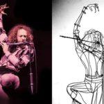 Ian Anderson, vocalista do Jethro Tull, em arte 3D com arame