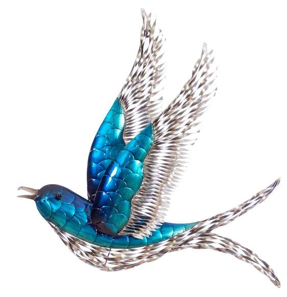 Beija-flor azul de metal