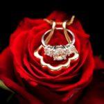 Pingente porta-anel ou aliança de diamantes para cordão