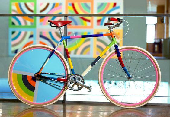 Bike com pintura artística