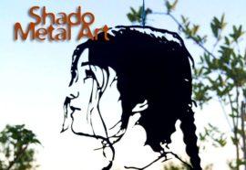 Retrato artístico em chapa de aço