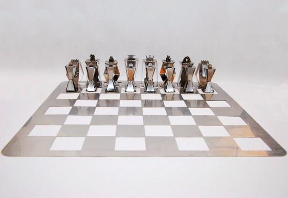 Jogo de xadrez metálico