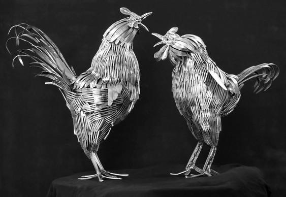 Escultura de briga de galos