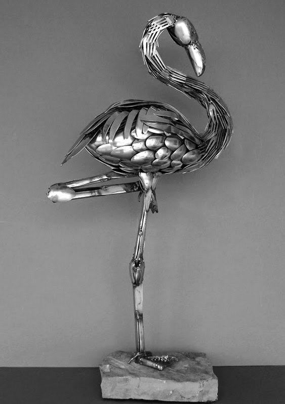 Escultura com faqueiro
