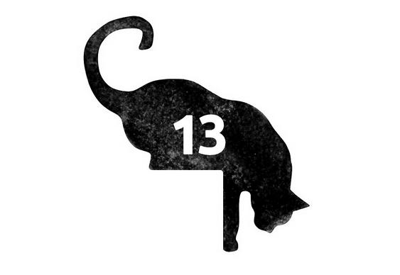 Gato em placa com número de casa