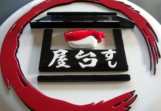Painel para sushi bar