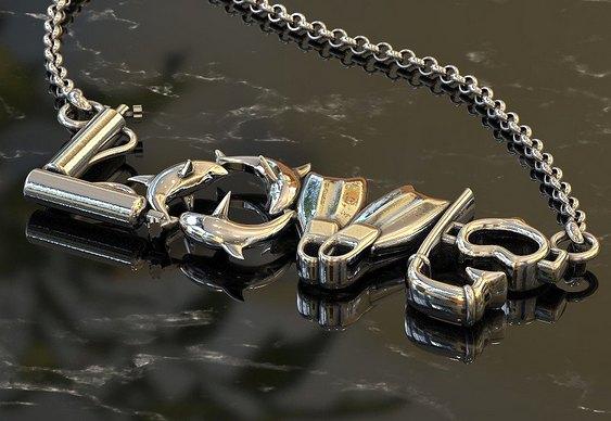 Joalheria para mergulhadores