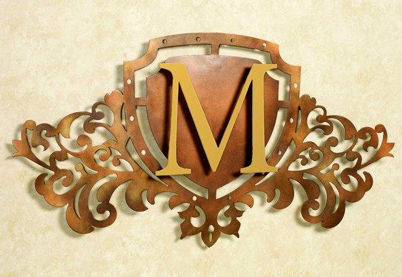 Letra inicial de nome em painel 3D