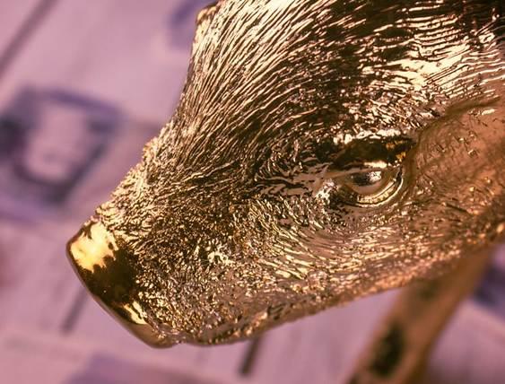 Porquinho dourado