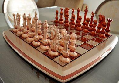 Jogo de xadrez com inovador design em peças e tabuleiro