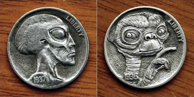 Moedas com extraterrestres