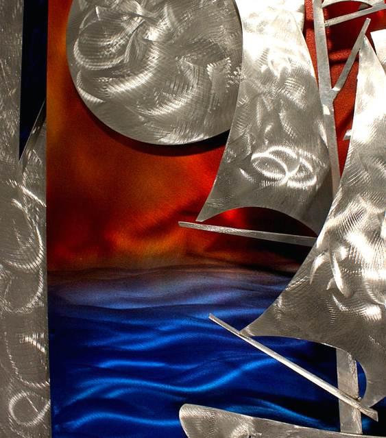 Quadro tridimensional de alumínio