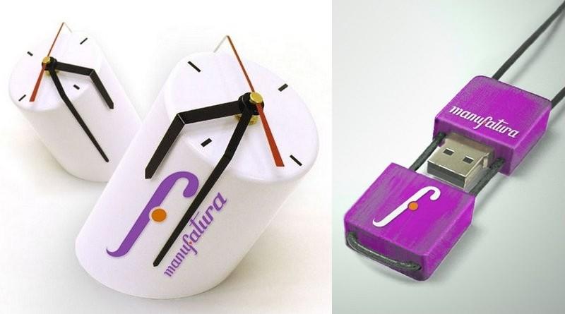 Relógio de PVC e porta-pendrive