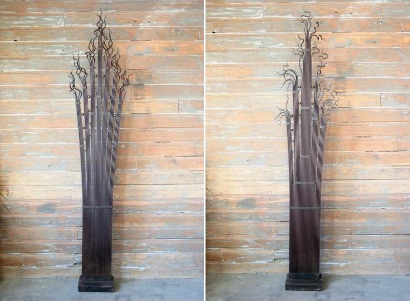 Esculturas com varetas de aço