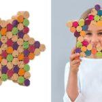 Estrelas e coração de Natal com reciclagem de rolhas de cortiça