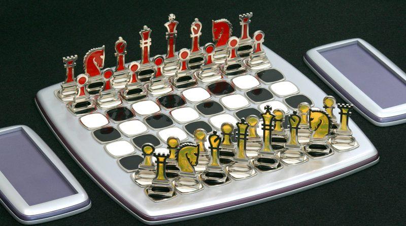 Jogo de xadrez estilo vintage
