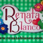 Letreiro artístico de metal 3D para a loja de Renata Blanco