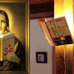 Use o seu livro favorito ou de cabeceira como uma bela luminária
