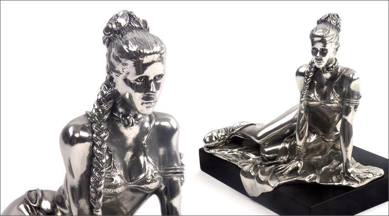 Estátua fundida em pewter
