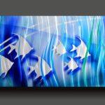 Cena submarina em painel holográfico para decorar casa de praia