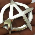 Símbolo do Anarquismo 3D como pingente ou medalhão