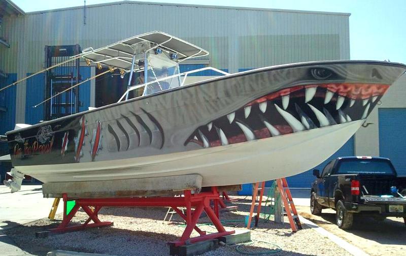 Casco de barco customizado