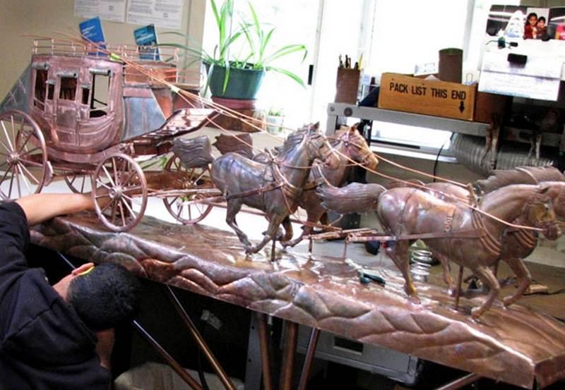 Escultura 3D de diligência
