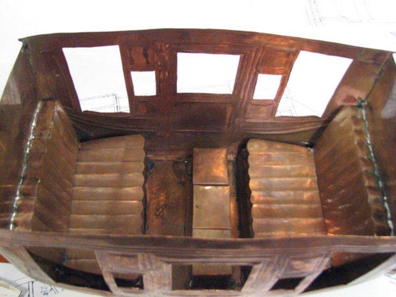 Interior de diligência de metal