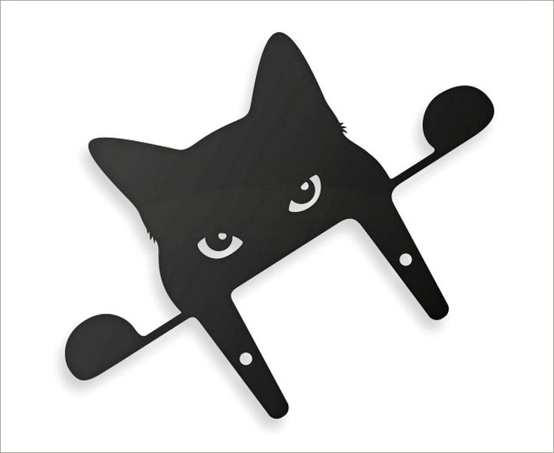 Gato em chapa de aço