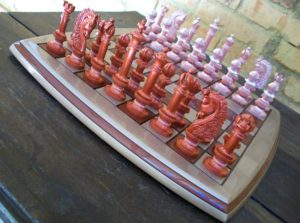 Jogo de xadrez de luxo