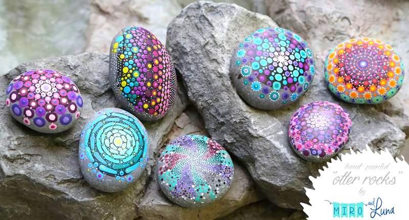 Artesanato com pedras roladas de rio