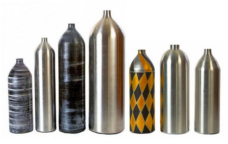 Cilindro de extintor reciclado