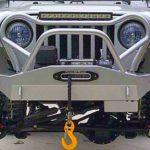 Para-choque com quebra-mato customizado para Jeep Willys CJ5