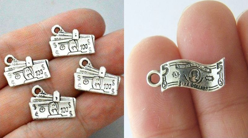 Miniaturas de notas de dólar