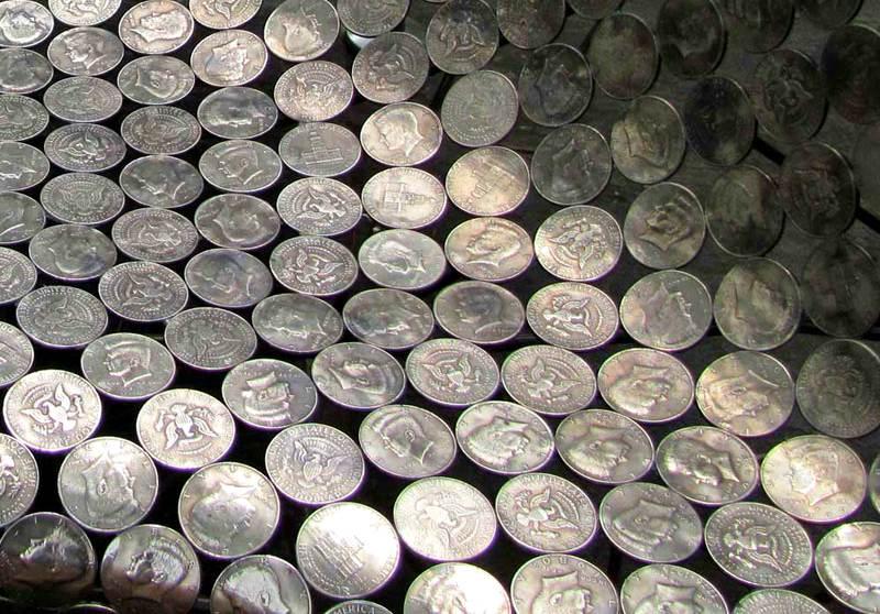 Forro de moedas para sofás