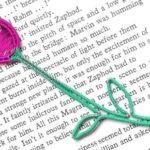 Marcador de livro: arame de alumínio encapado com fio colorido