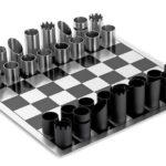 Peças de xadrez com tubos de metal, PVC ou gomos de bambu