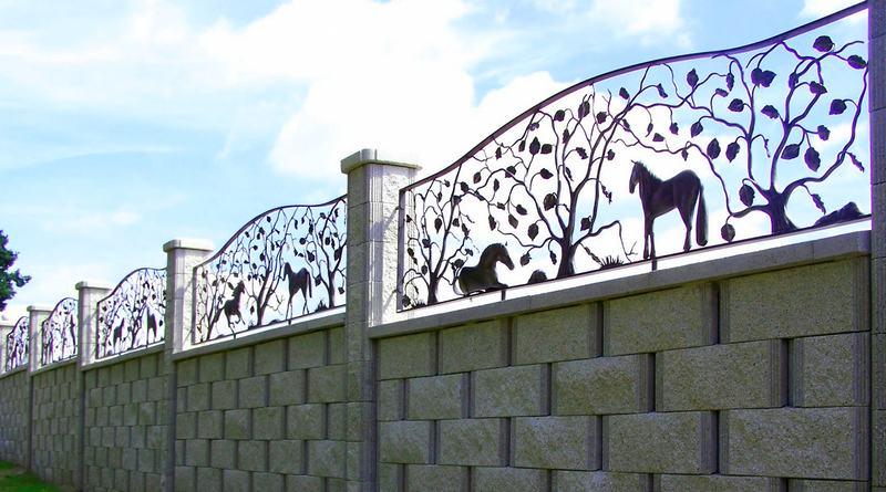 Muro decorado de haras
