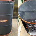 Armário de ferramentas feito com barril de petróleo reciclado