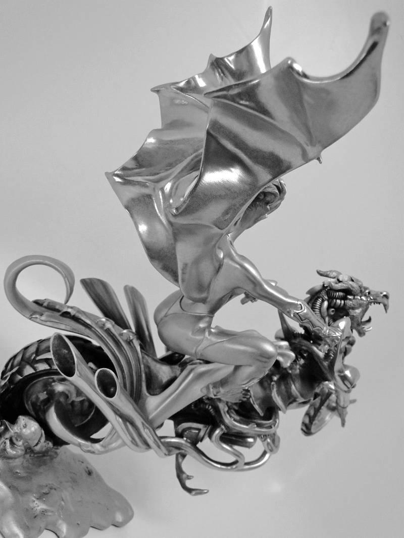 Escultura em pewter