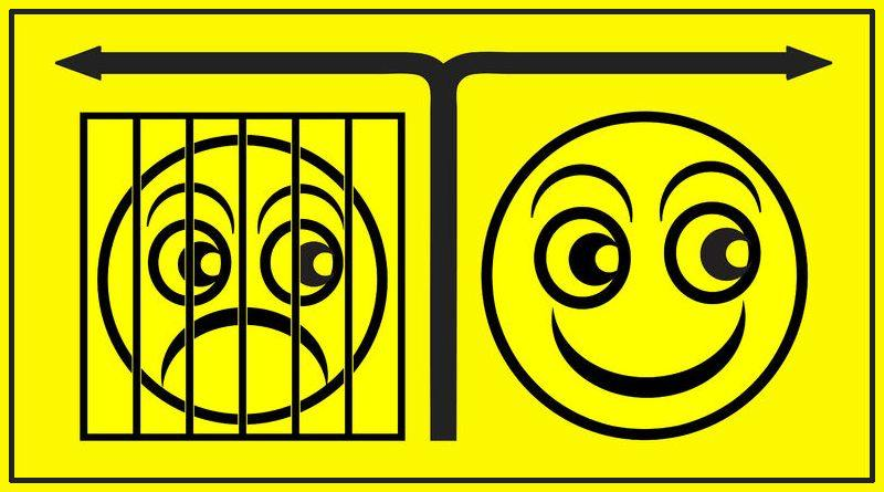 Ilustração sobre otimismo versus pessimismo