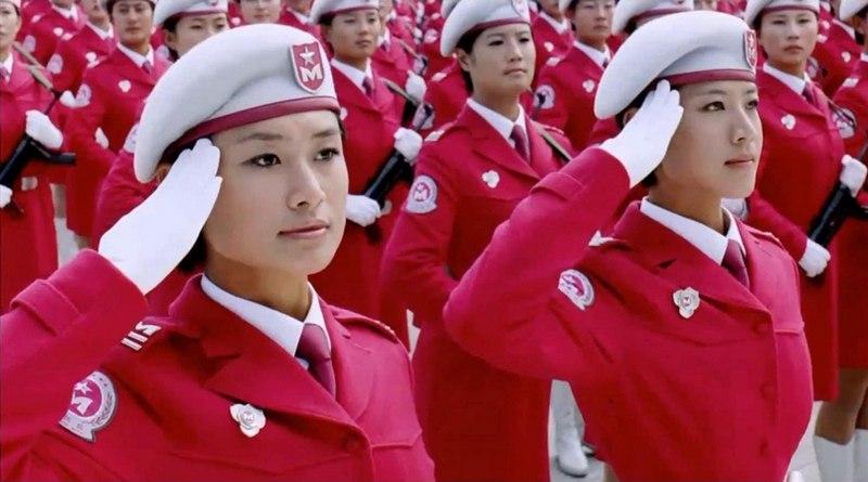Pelotão militar feminino