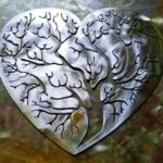 Corações com Árvores da Vida para decorar as paredes