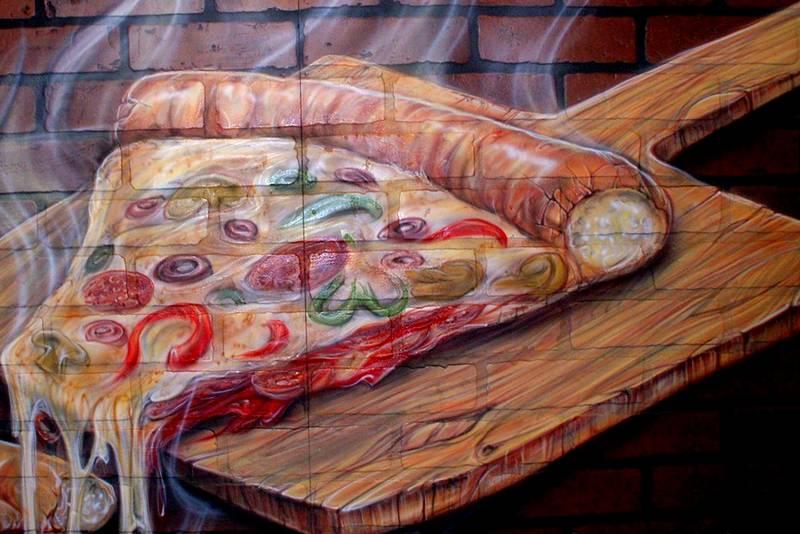 Desenho de pizza 3D