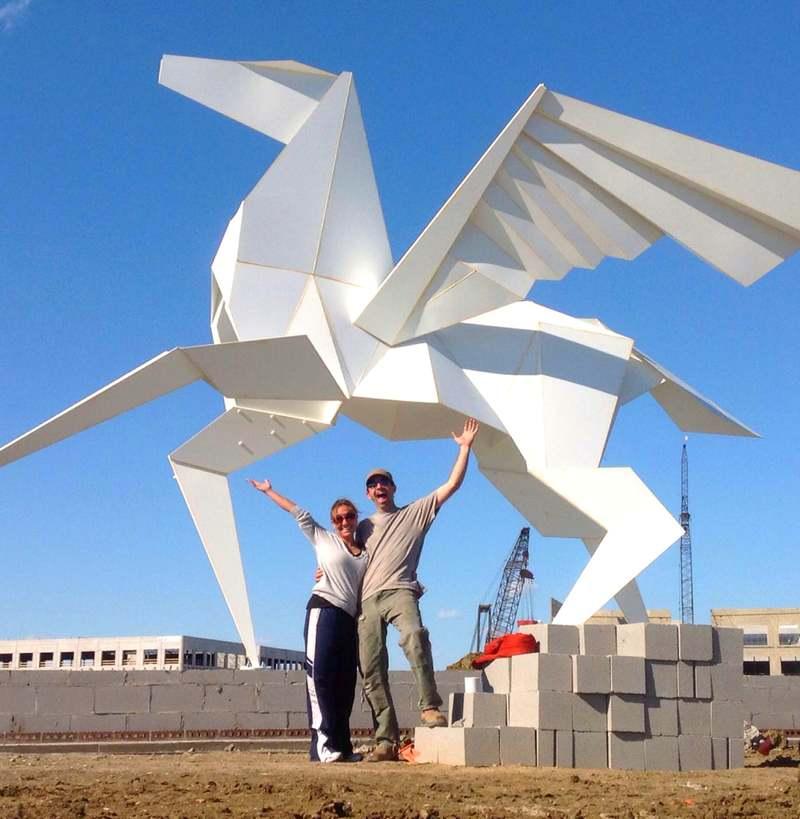 Monumento de cavalo alado