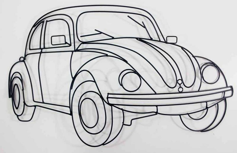 Volkswagen em painel de parede