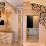 Divisória de ambientes com motivo floral no estilo Art Nouveau